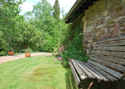 Coin tranquille jardin Aretxola